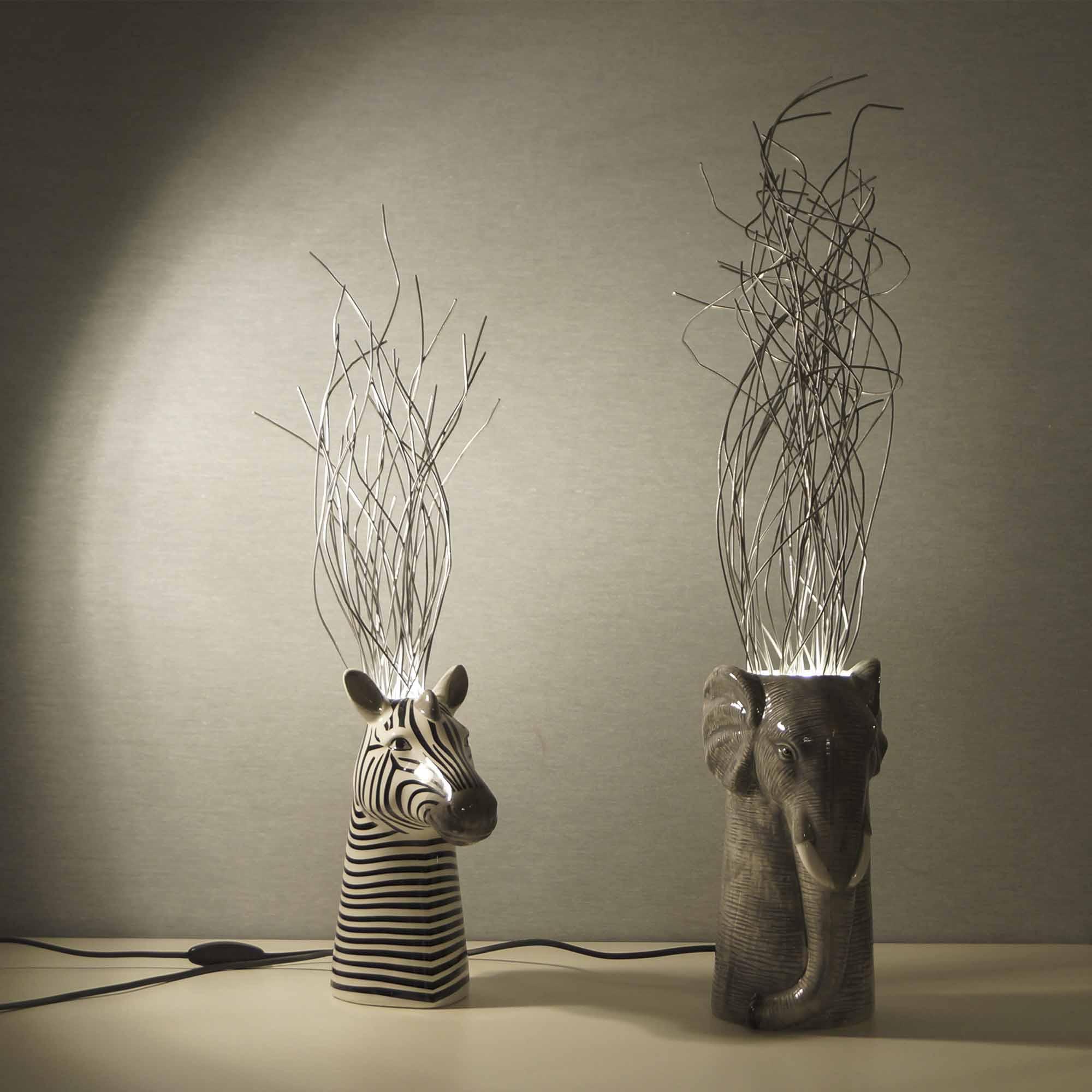 Lampada animali con fili di metallo