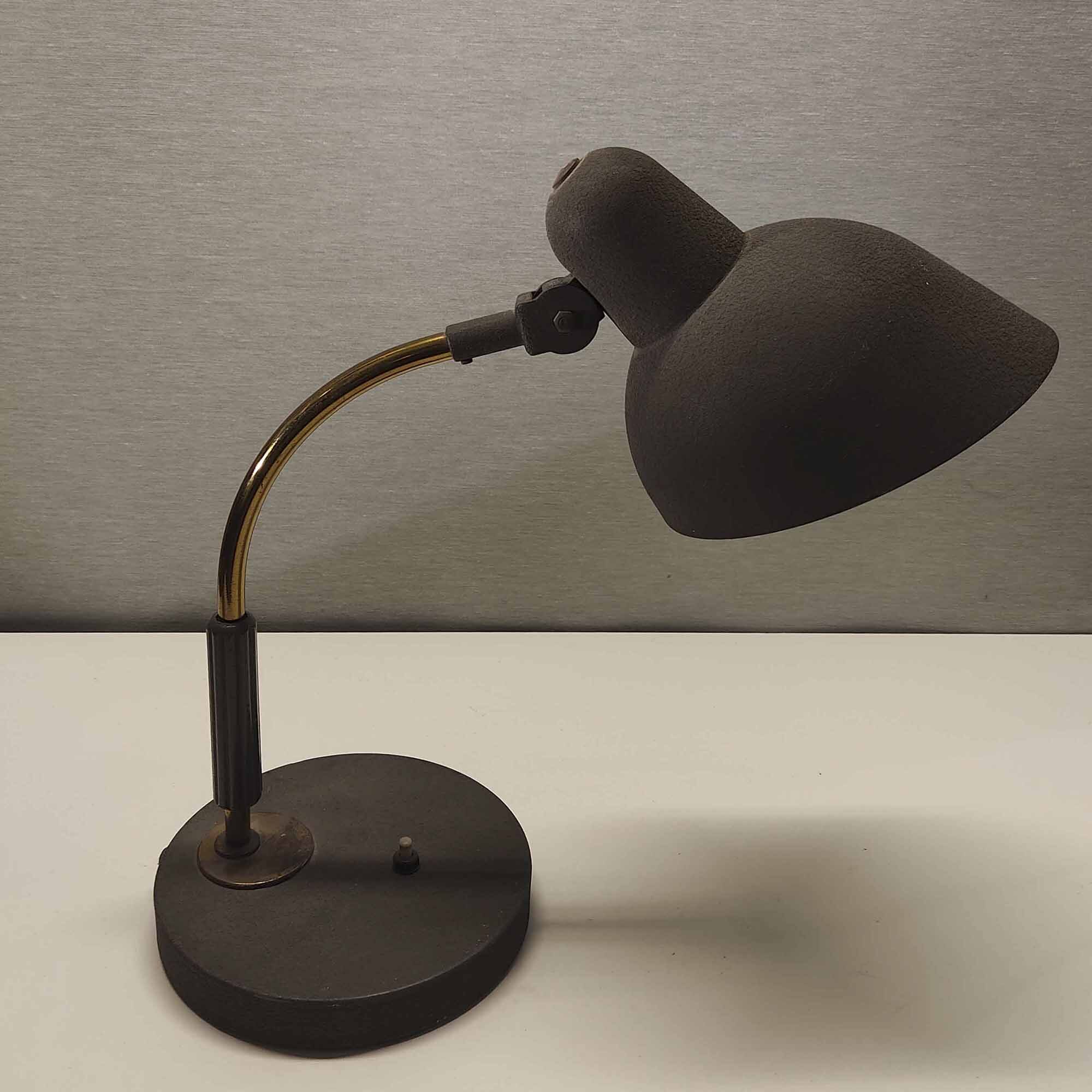 Lampada da scrivania anni '40 in metallo