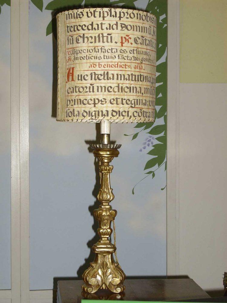 restauro lampada antica